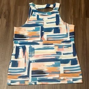 Modern watercolor Anthropologie sleeveless top